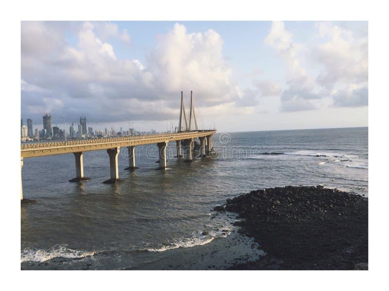 Relação do mar de Worli, Índia de Mumbai foto de stock royalty free