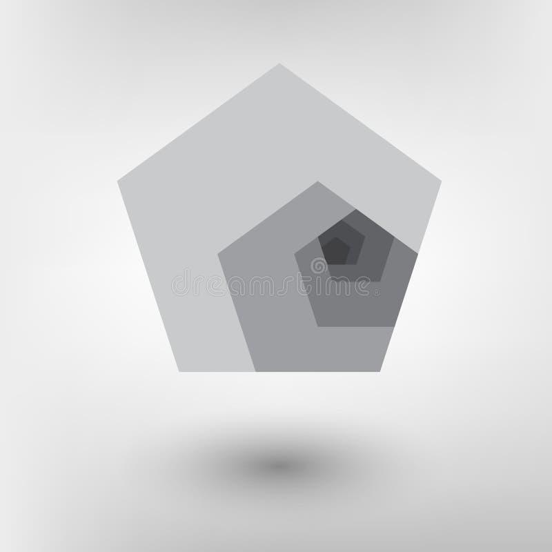 Relação dourada do projeto do estilo de Minimalistic Projeto futurista Formas geométricas ilustração do vetor