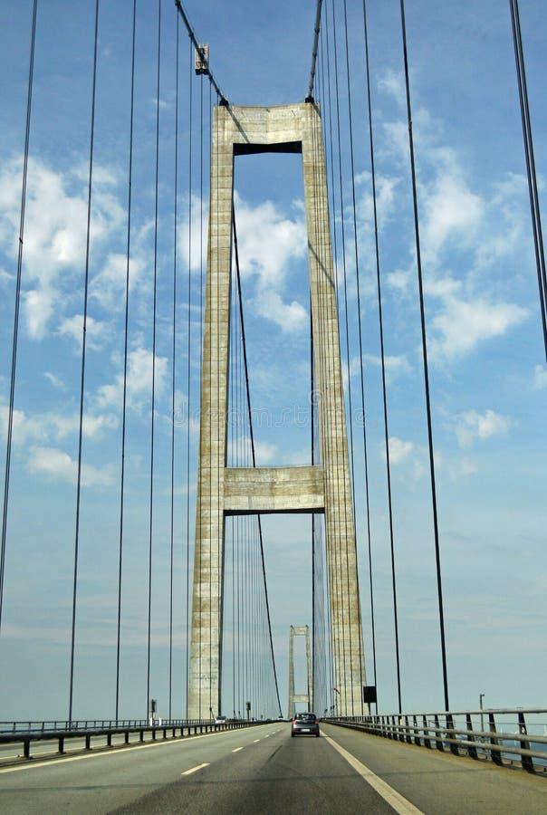 Relação fixa da grande correia - ponte do leste fotografia de stock royalty free