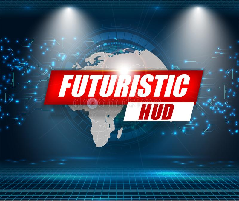 Relação futurista, HUD, fundo do vetor Ui abstrato da tecnologia ilustração do vetor
