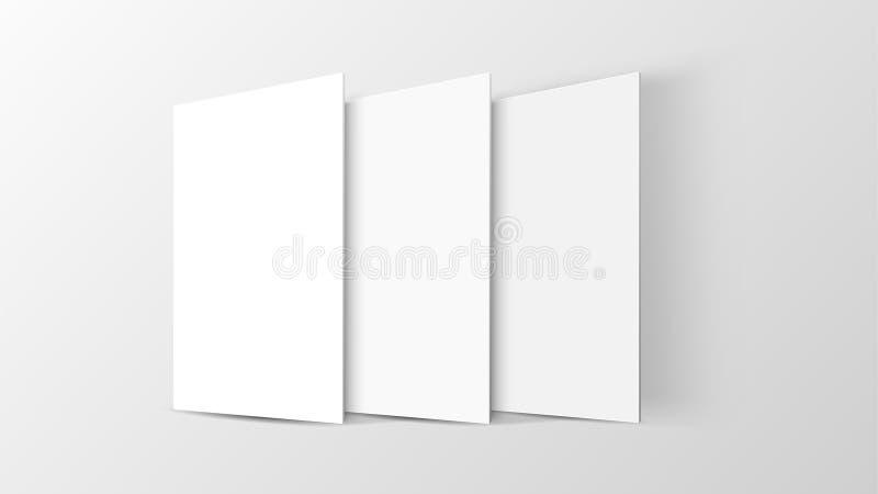 relação móvel do app do modelo 3D Tela vazia do app Prolongamento horizontal do 9:16 no tom branco da cor criado pelo vetor ilustração stock