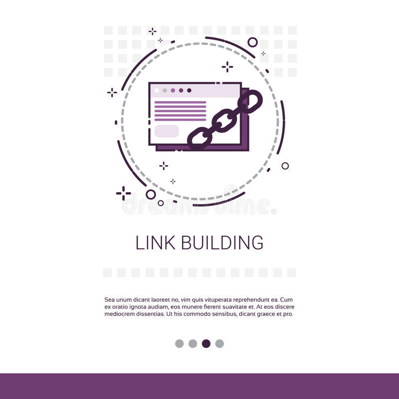 Relação que constrói o espaço da cópia de Seo Keywording Search Banner With ilustração stock