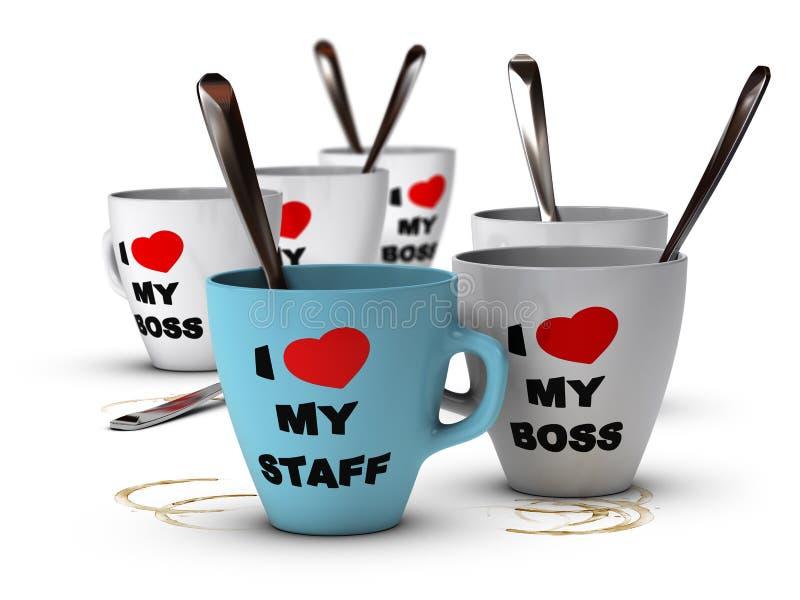Relações do pessoal e motivação, local de trabalho ilustração stock