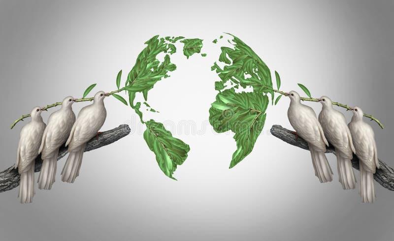 Relações globais ilustração do vetor