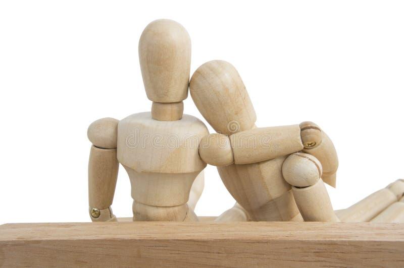relación blanca simulada de madera del amor del fondo foto de archivo libre de regalías