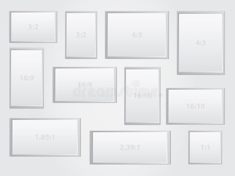 Relación de aspecto stock de ilustración