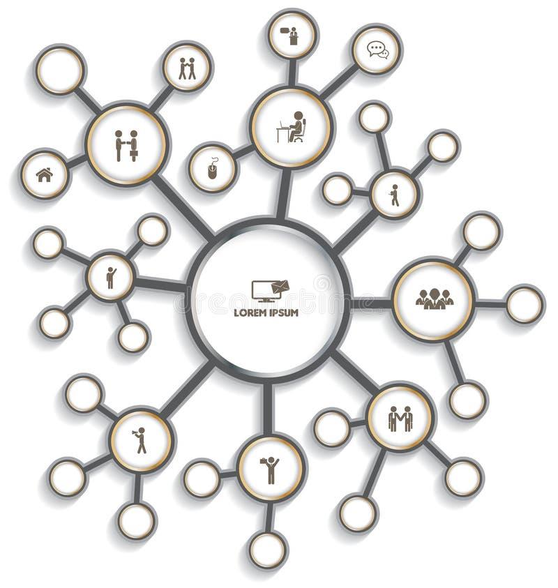 Relación del círculo con el icono libre illustration