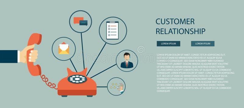 Relación del cliente ilustración del vector