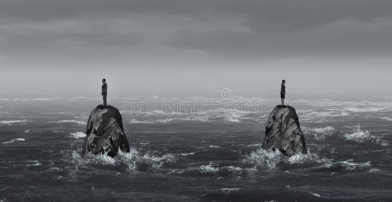 Relación soledad foto de archivo