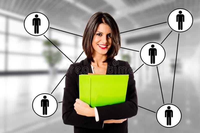 Relacionamentos da mulher de negócio imagens de stock royalty free