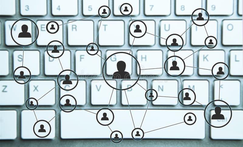 Relaciones de negocios y red social Concepto del asunto foto de archivo libre de regalías