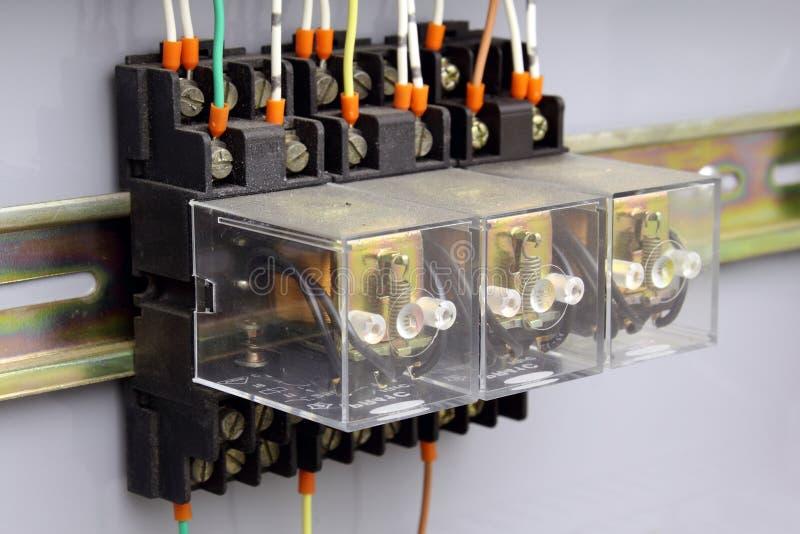Relais électriques photo stock