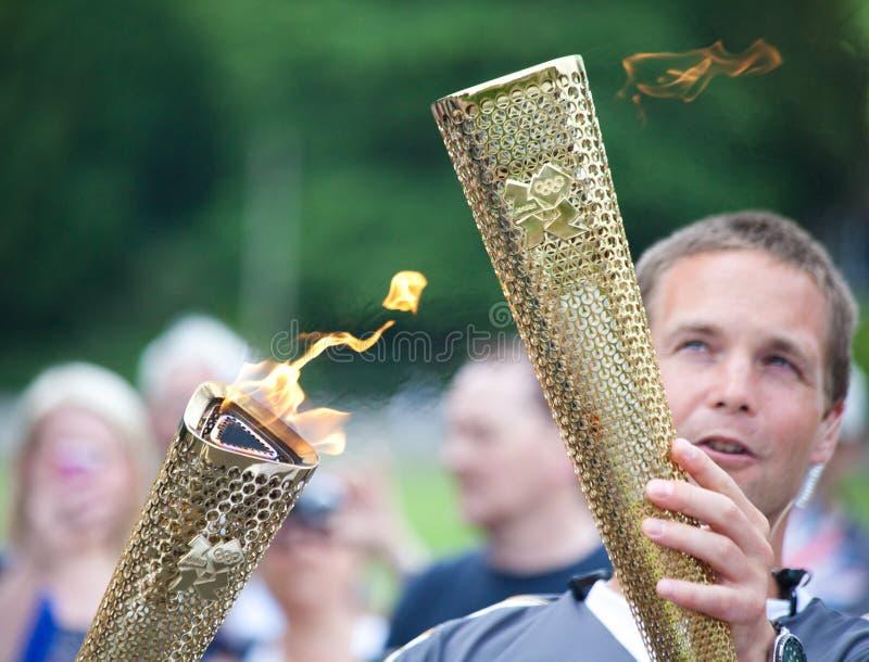 Relais olímpico Bakewell de la antorcha fotografía de archivo