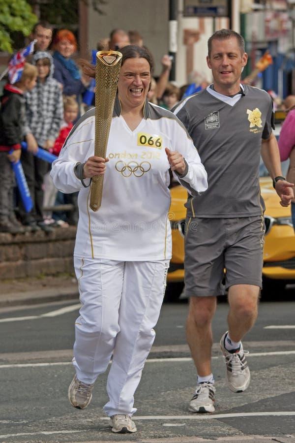 Relais olympique de torche de Londres 2012 image libre de droits
