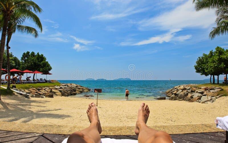 Relajación del mar y de la playa foto de archivo