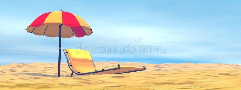 Relajación del verano - 3D rinden libre illustration