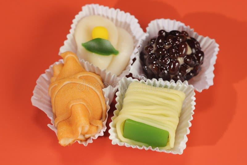 Relajación deliciosa de la comida de los dulces del estilo japonés imágenes de archivo libres de regalías