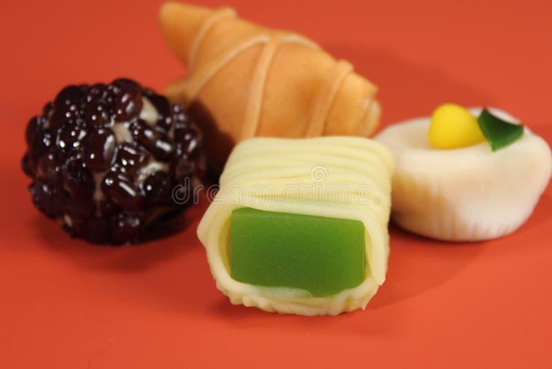 Relajación deliciosa de la comida de los dulces del estilo japonés foto de archivo