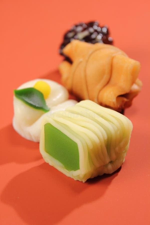 Relajación deliciosa de la comida de los dulces del estilo japonés fotos de archivo