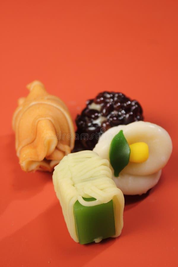 Relajación deliciosa de la comida de los dulces del estilo japonés imagenes de archivo