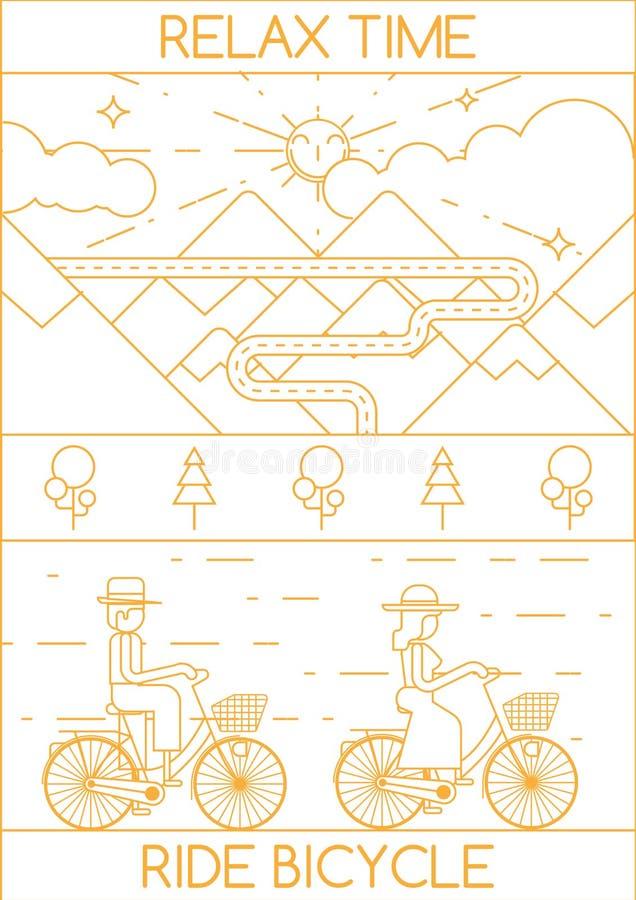 RELAJE LA BICICLETA DEL PASEO DEL TIEMPO libre illustration