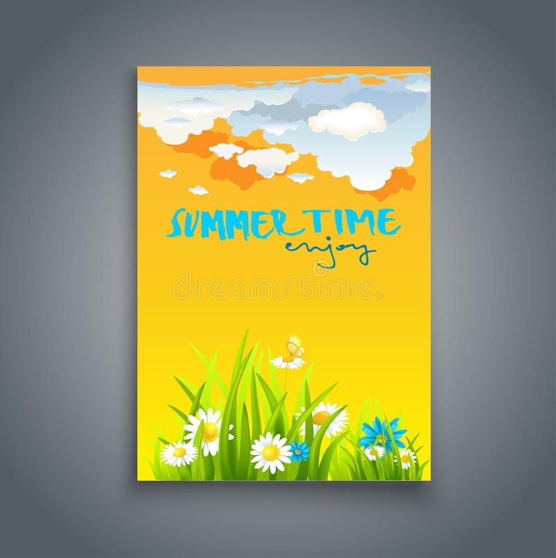 Relaje la plantilla del verano stock de ilustración
