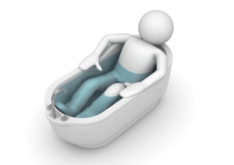 Relaje y tome un cierto baño ilustración del vector