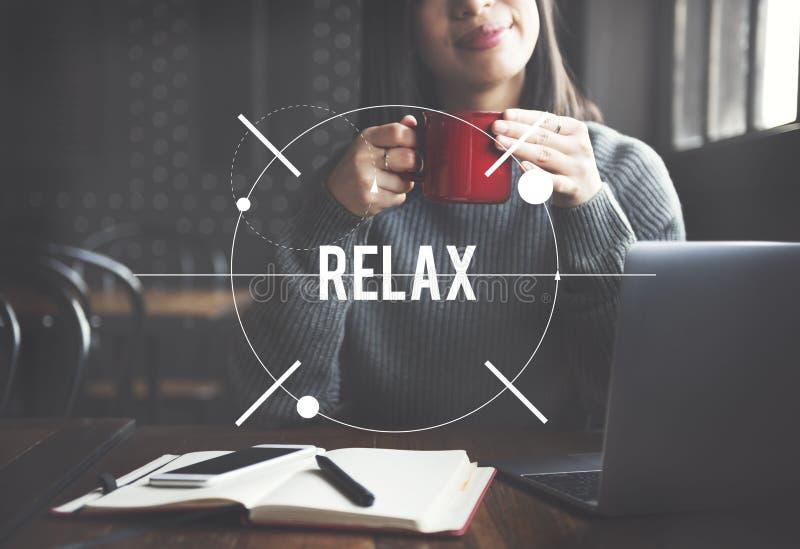 Relaks Relaksuje Chłodzi Out pokoju spokoju Odpoczynkowego pojęcie zdjęcia stock