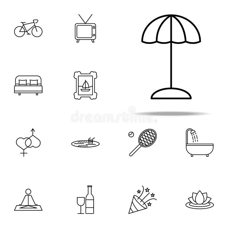 relaks w podróżnej ikonie relaks ikon ogólnoludzki ustawiający dla sieci i wiszącej ozdoby ilustracja wektor