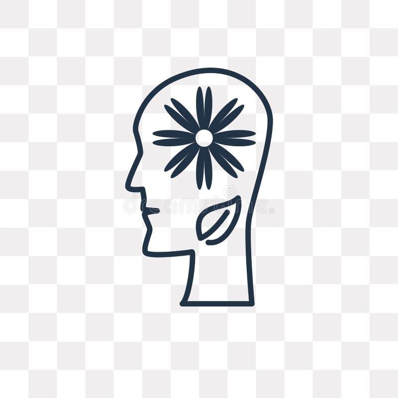 Relaks wektorowa ikona odizolowywająca na przejrzystym tle, linea royalty ilustracja