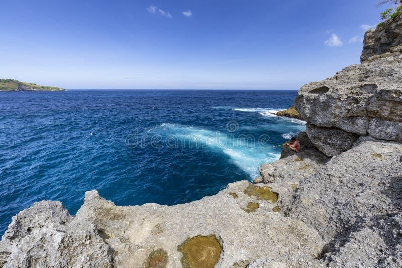 Relaksować i ryba w Nusa Penida obrazy royalty free