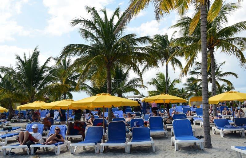 Relaksować Przy żniwa Caye wyspą zdjęcia royalty free