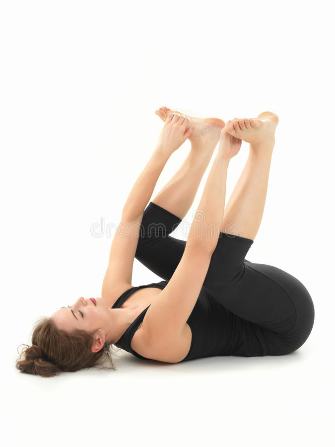 Relaksu joga postura fotografia stock