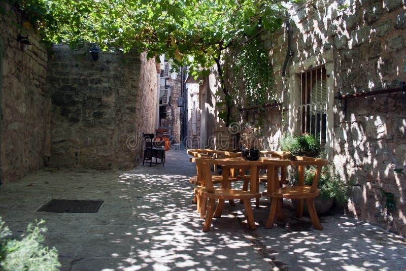 Relaksu kąt w starym mieście obrazy royalty free