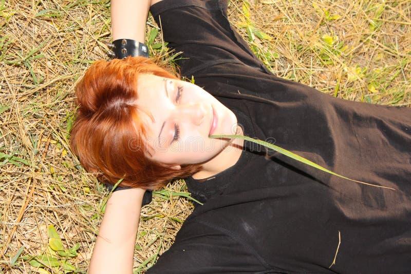 relaksu kobiety potomstwa zdjęcie stock