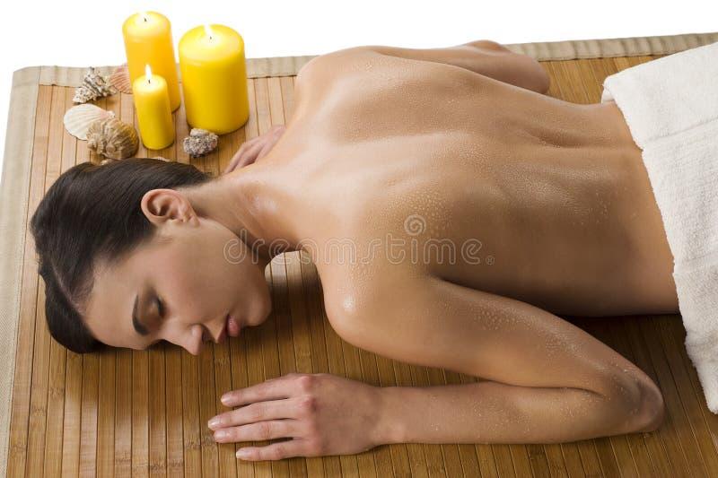 relaksująca mokra kobieta zdjęcie stock