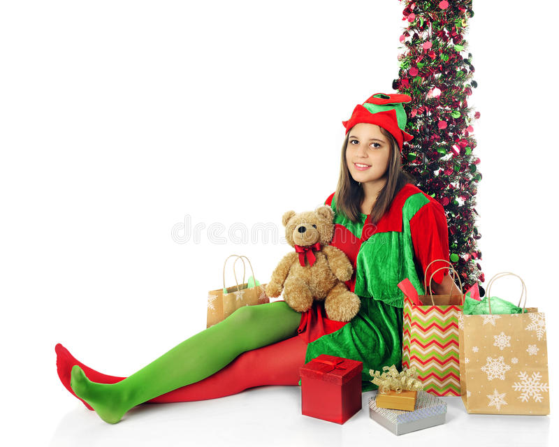 Relaksujący Nastoletni elf obraz stock