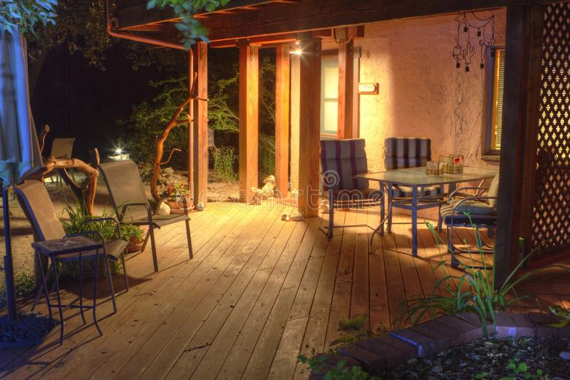 Relaksujący patio zdjęcia stock