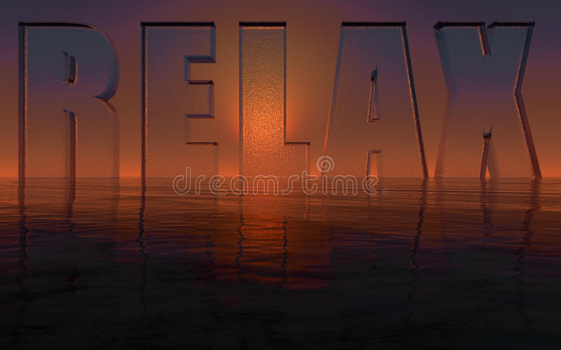 Relaksuje ilustracji