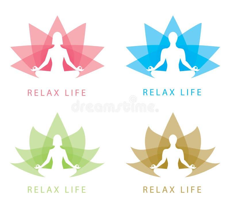 Relaksuje symbol ilustracja wektor