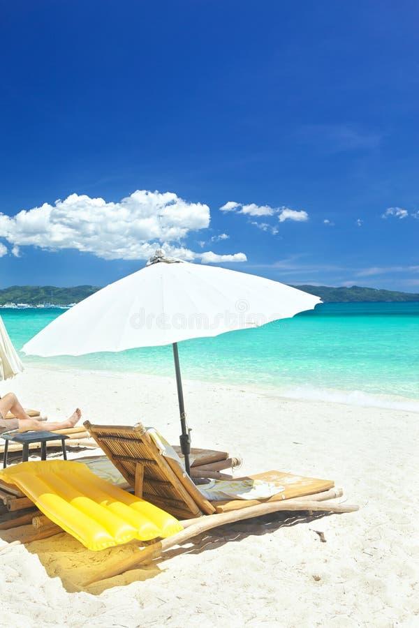Relaksuje teren na plaży zdjęcia stock