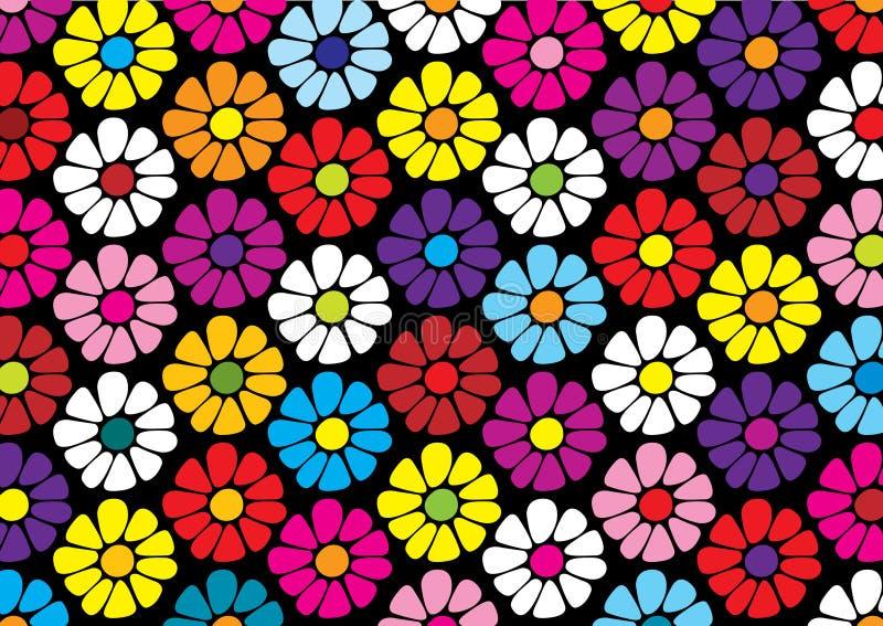 Relance el modelo de las flores brillantes de la margarita ilustración del vector