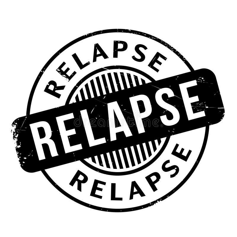 Relapse pieczątka ilustracji