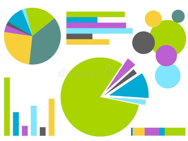 Relatório da carta do gráfico da coleção isolado ilustração stock