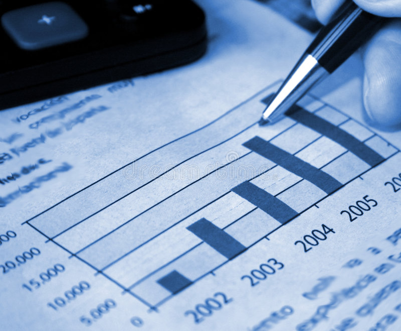 Relatório da contabilidade imagens de stock royalty free