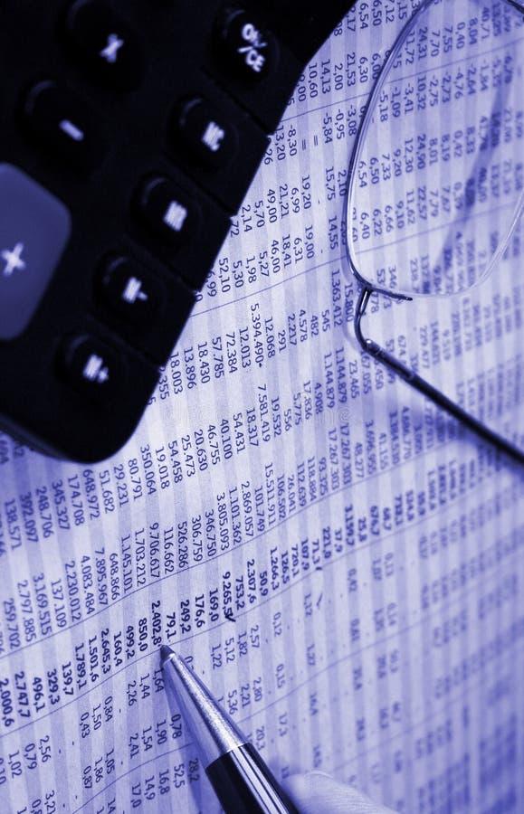 Relatório da finança imagens de stock