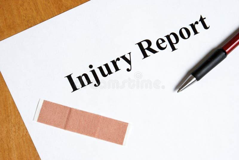 Relatório de ferimento foto de stock royalty free