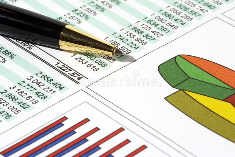Relatório de vendas imagem de stock royalty free