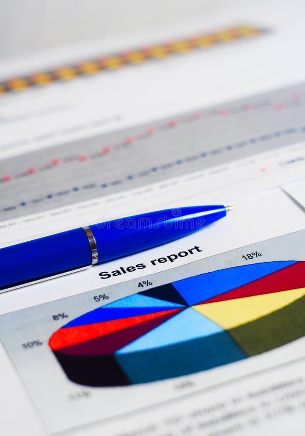 Relatório de vendas imagens de stock