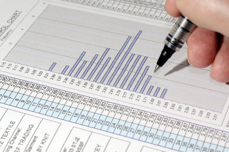 Relatório do controle da qualidade imagem de stock royalty free
